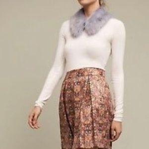 Anthropologie Maeve Metallic Skirt